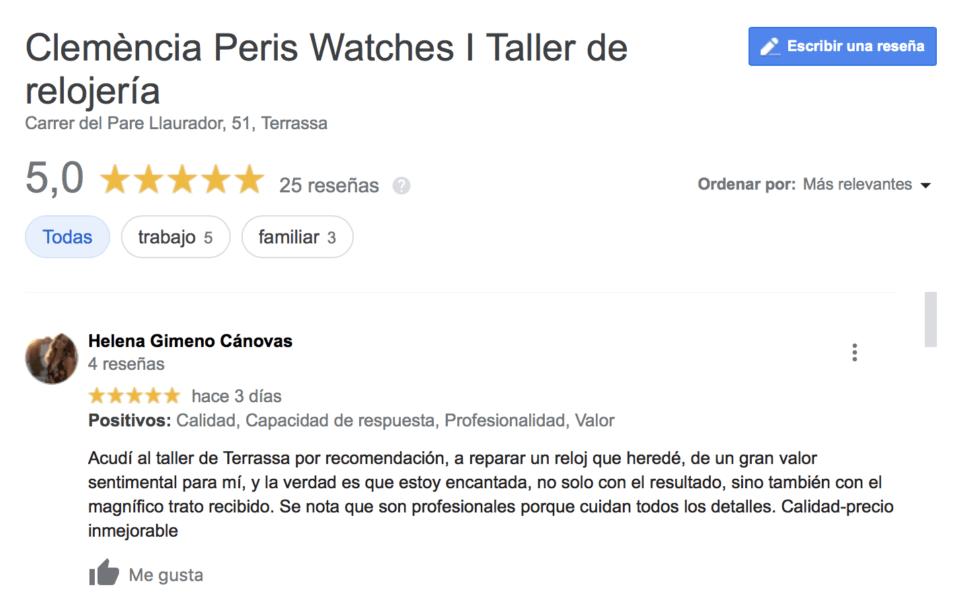 mejor servicio técnico de relojería en barcelona