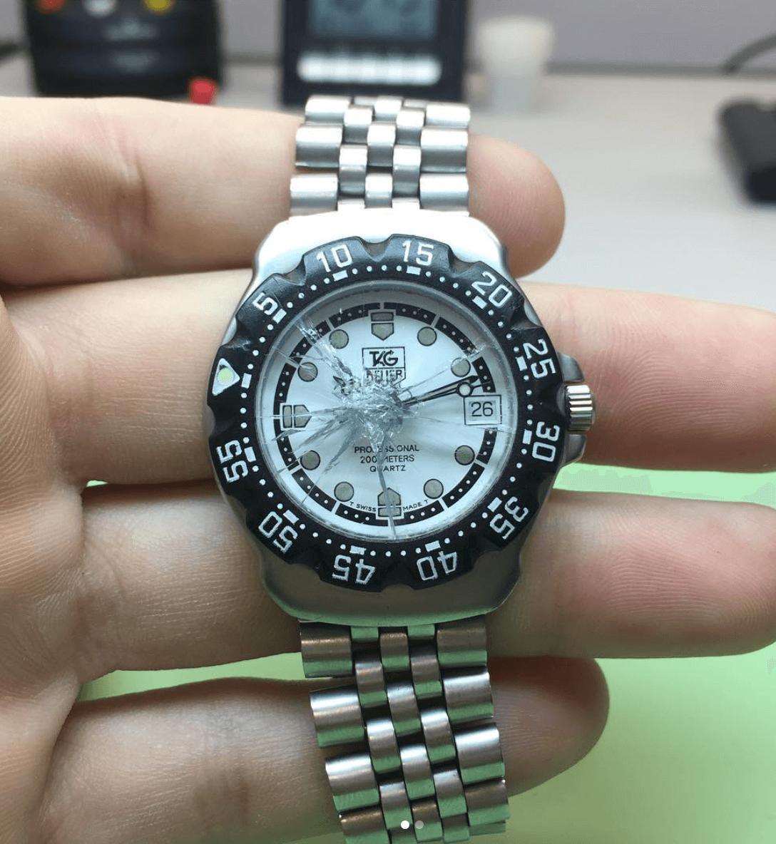 reparar rotura cristal reloj